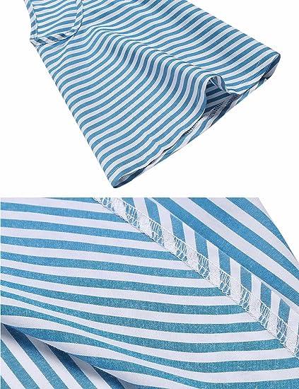 LAMORE Camisas - Túnica - Rayas - manga 3/4 - para mujer B-Blau/Weiß XXL: Amazon.es: Ropa y accesorios