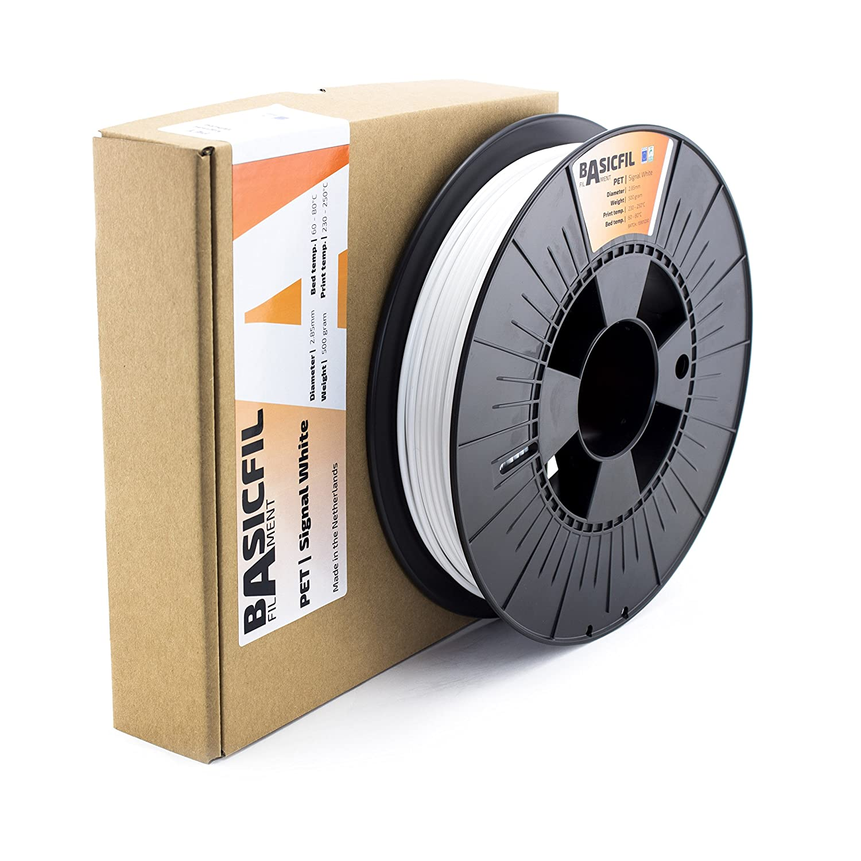 500 gr filamento per stampante 3D Basicfil PET  2.85mm Arancione