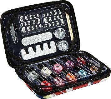 Gloss - caja de maquillaje, caja de regalo para mujeres - Estuche de manicura Reino Unido SHOPA Belleza - 19pcs: Amazon.es: Belleza