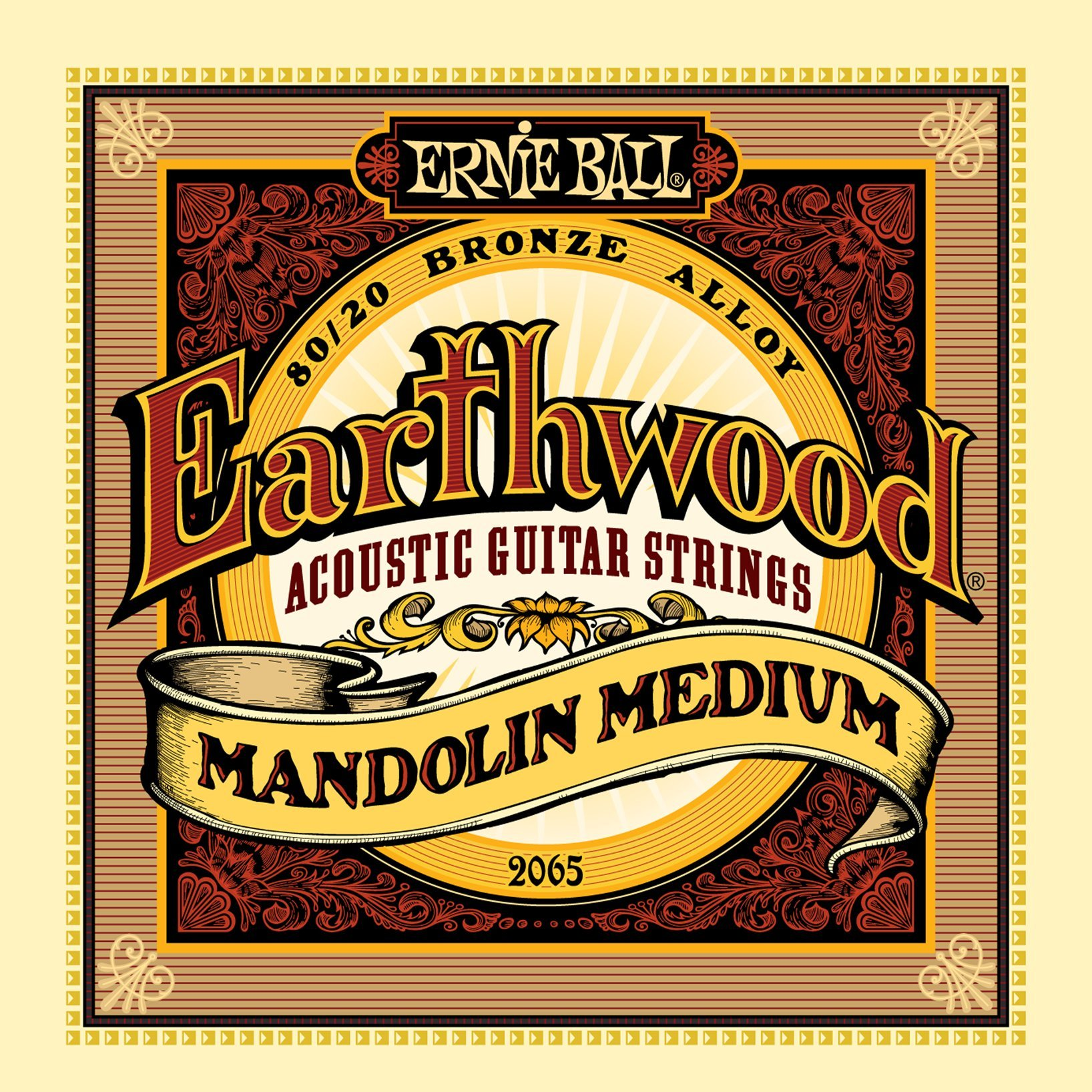 Ernie Ball Earthwood Mandolin Medium 80/20 Bronze Loop End Set.010 - .036