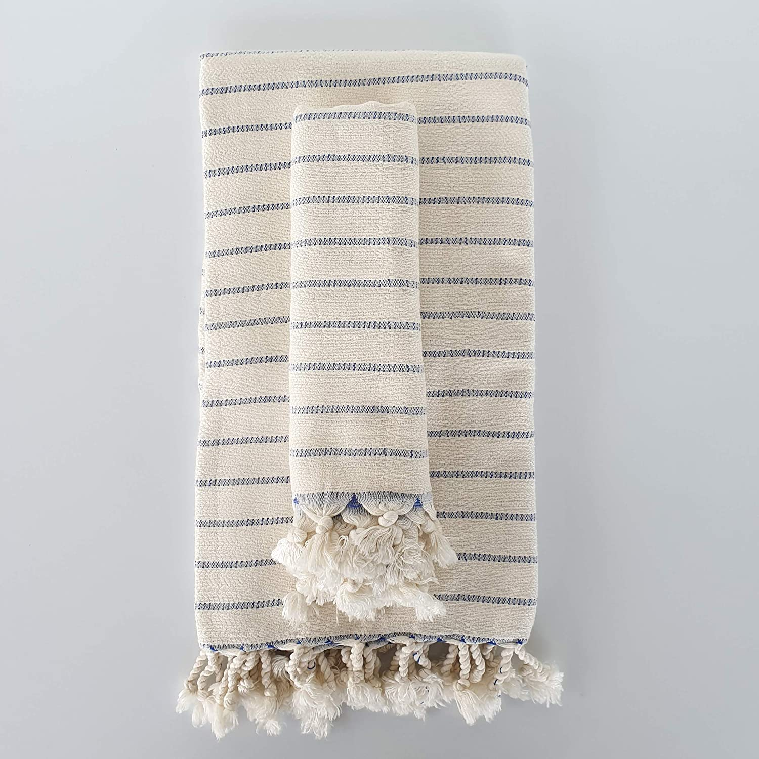 The Loomia Deniz Handwoven Series Bamboo Towel