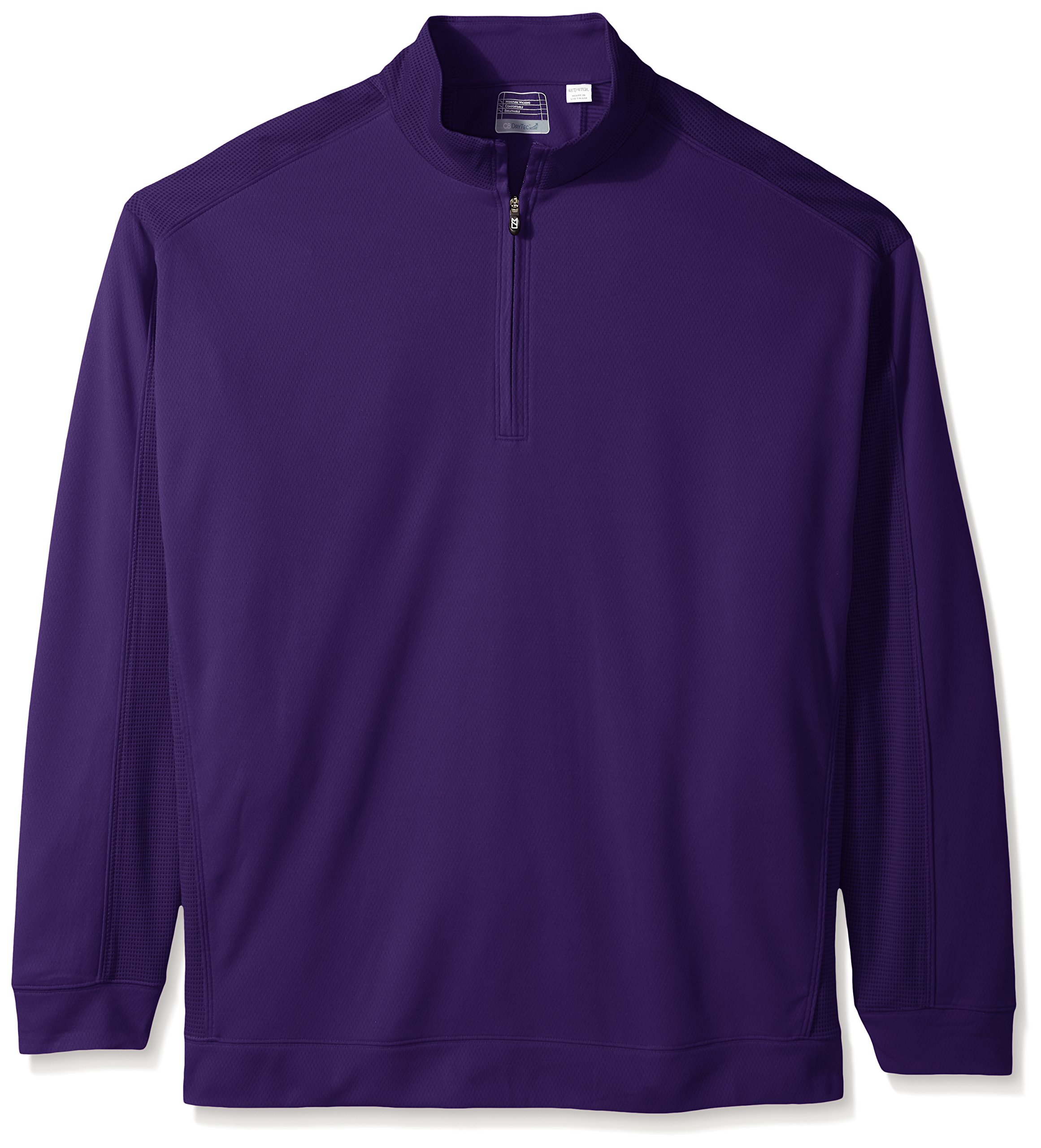 Cutter & Buck Men's Big Drytec Edge Half Zip, College Purple, 4X/Tall