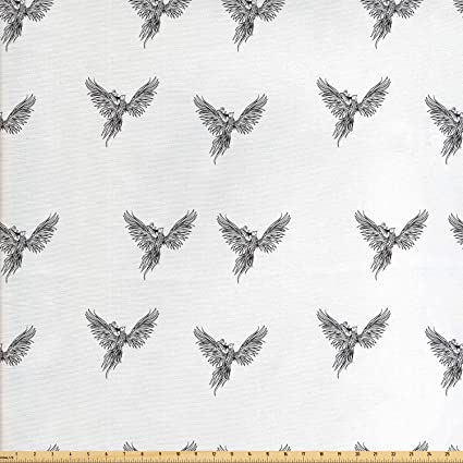 Amazon Com Ambesonne Phoenix Fabric By The Yard Hand Drawn