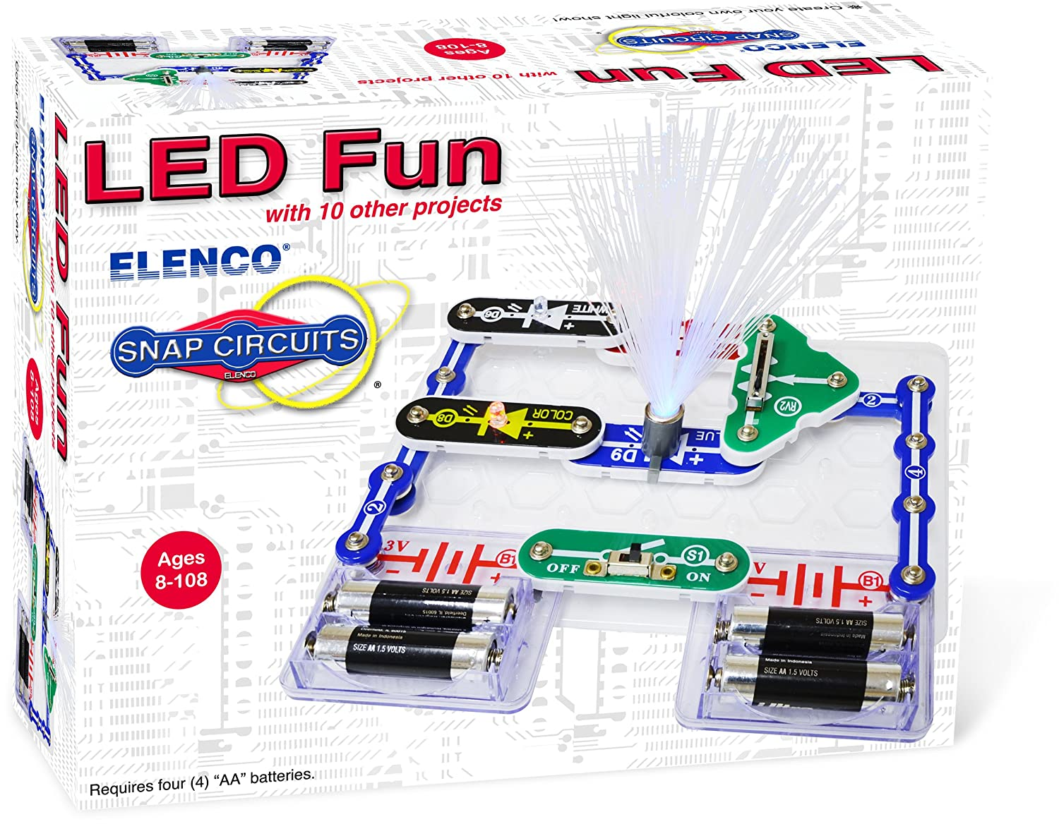Elenco Electronics Scp 11 Snap Circuits Led Fun Science Bike Light Circuit Project Kit Toys Games