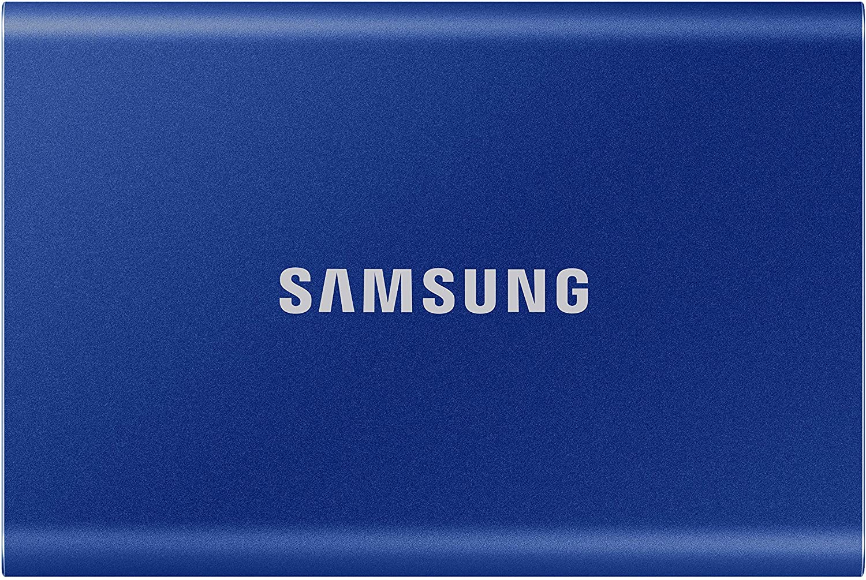 SAMSUNG T7 500 Go USB 3.2 SSD externe bleu - MU-PC500H/WW-