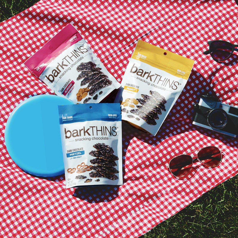 Amazon.com : barkTHINS Snacking Dark Chocolate, Peanut with Sea Salt ...