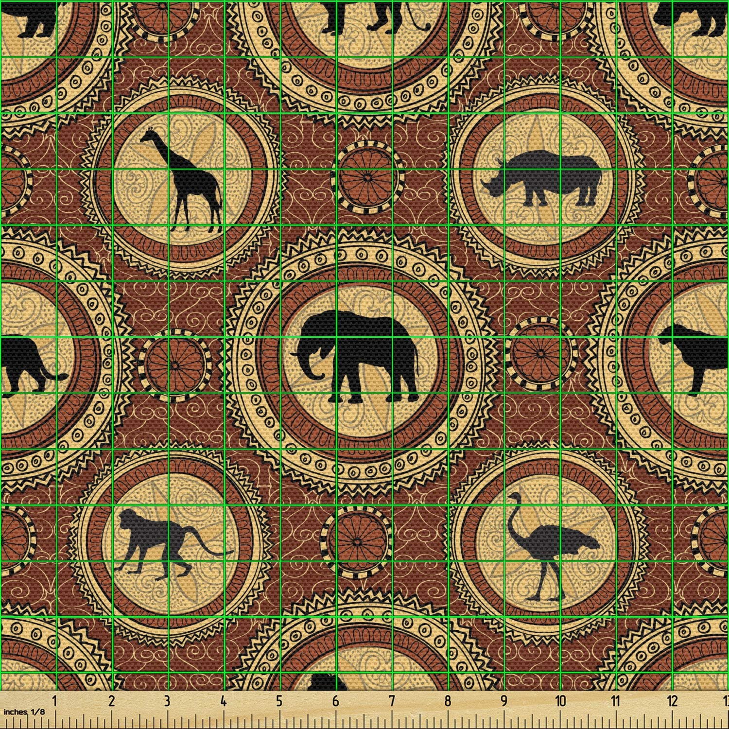 Home Accent Fabrics Africana Gold fabric by the yard