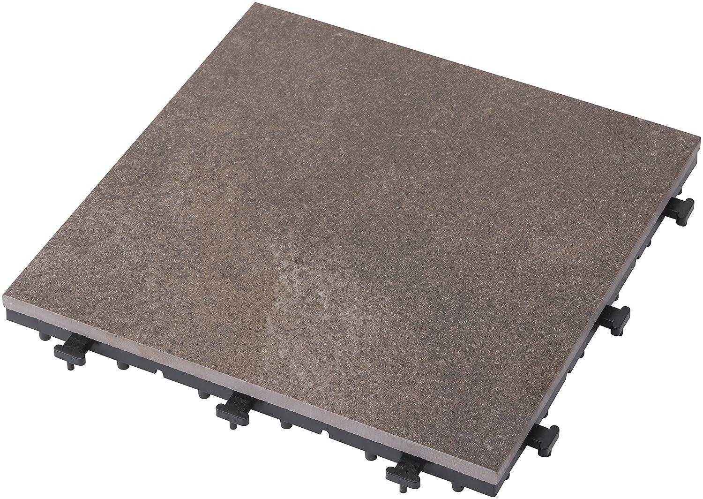 タカショー 敷くだけタイル 磁器 ローズグレー 9枚セット 約W30×D30×H2.8cm B0713PSZ1Y ローズグレー ローズグレー