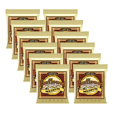 12 sets Bulk Ernie Ball, Earthwood 80/20 bronce tamaño mediano ...