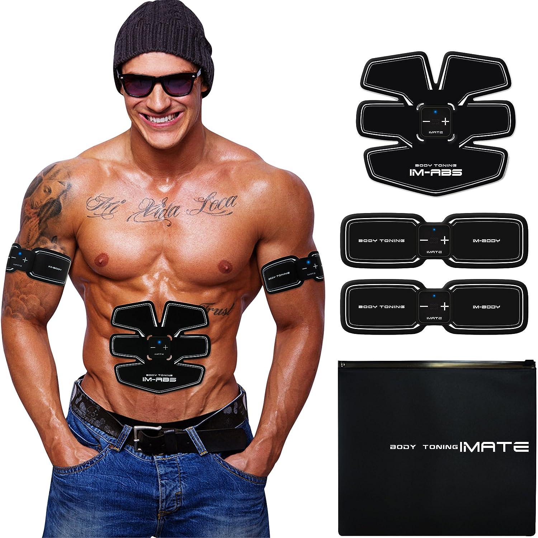 Ronovic Electroestimulador de Abdominales Masageador de Músculos Fitness y Ejercicio Cinturón de
