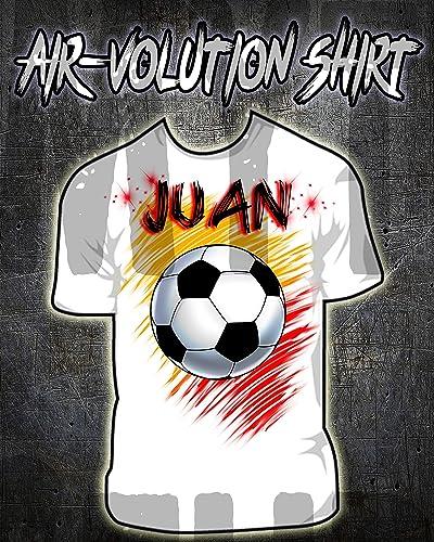 Mythic Airbrush Camiseta del balón de fútbol Airbrushed ...