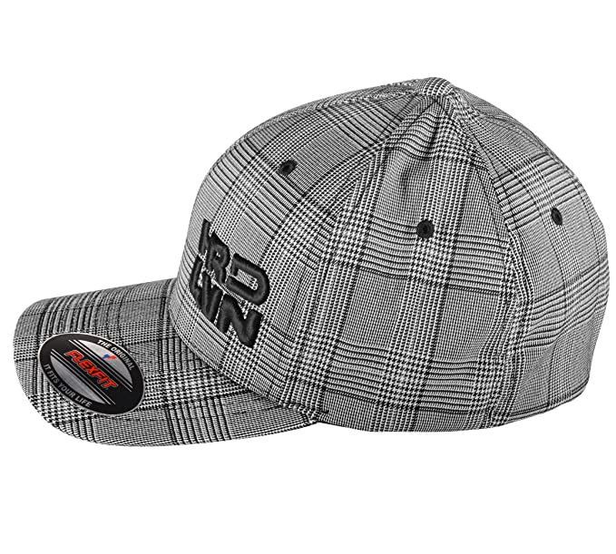 b0eca2ddbe6 Amazon.com  Monsta Clothing Co. Stretch Fit (Pinstripe Plaid) CurvedBill Cap  Hard Livin (HRD-LVN)-913  Small  Clothing