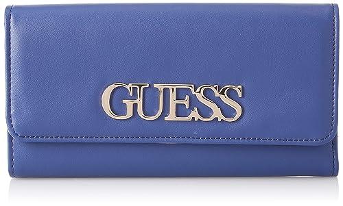 Guess - Felix, Carteras Mujer, Azul (Blue), 19x11x1 cm (W x H L): Amazon.es: Zapatos y complementos