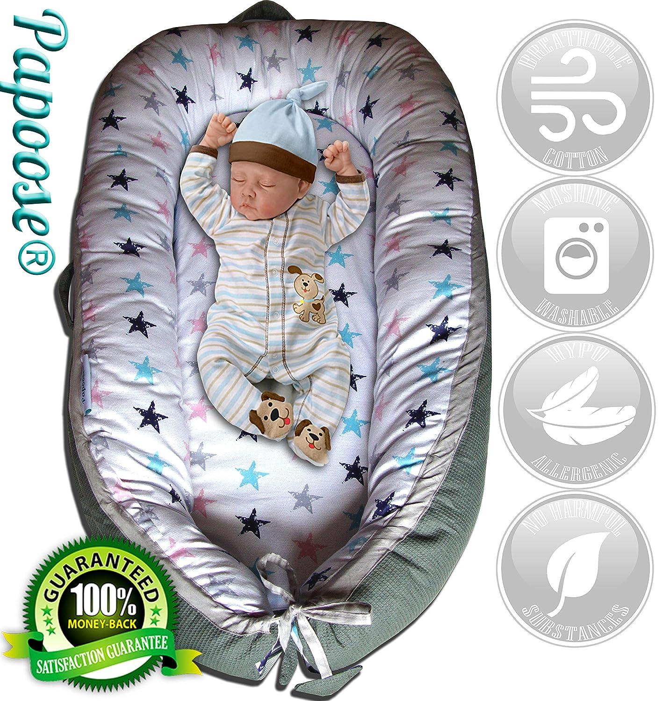 Papoose Nido Para Bebés De a Meses Reductor Suave Y Adorable