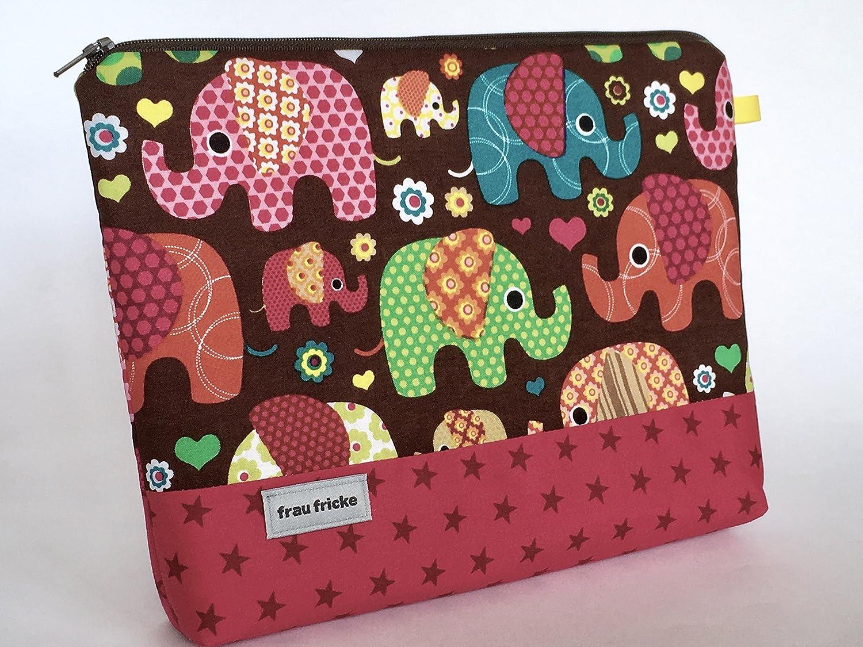 Kulturbeutel Lollo Kulturtasche aus Designerstoff in leuchtenden Farben im Retrolook. Innen mit Wachstuch -abwaschbar- 100% Handmade