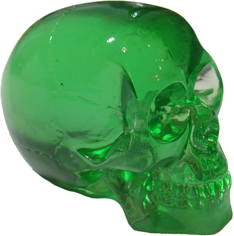 Decor Clear Green Skull Head Shift Knob