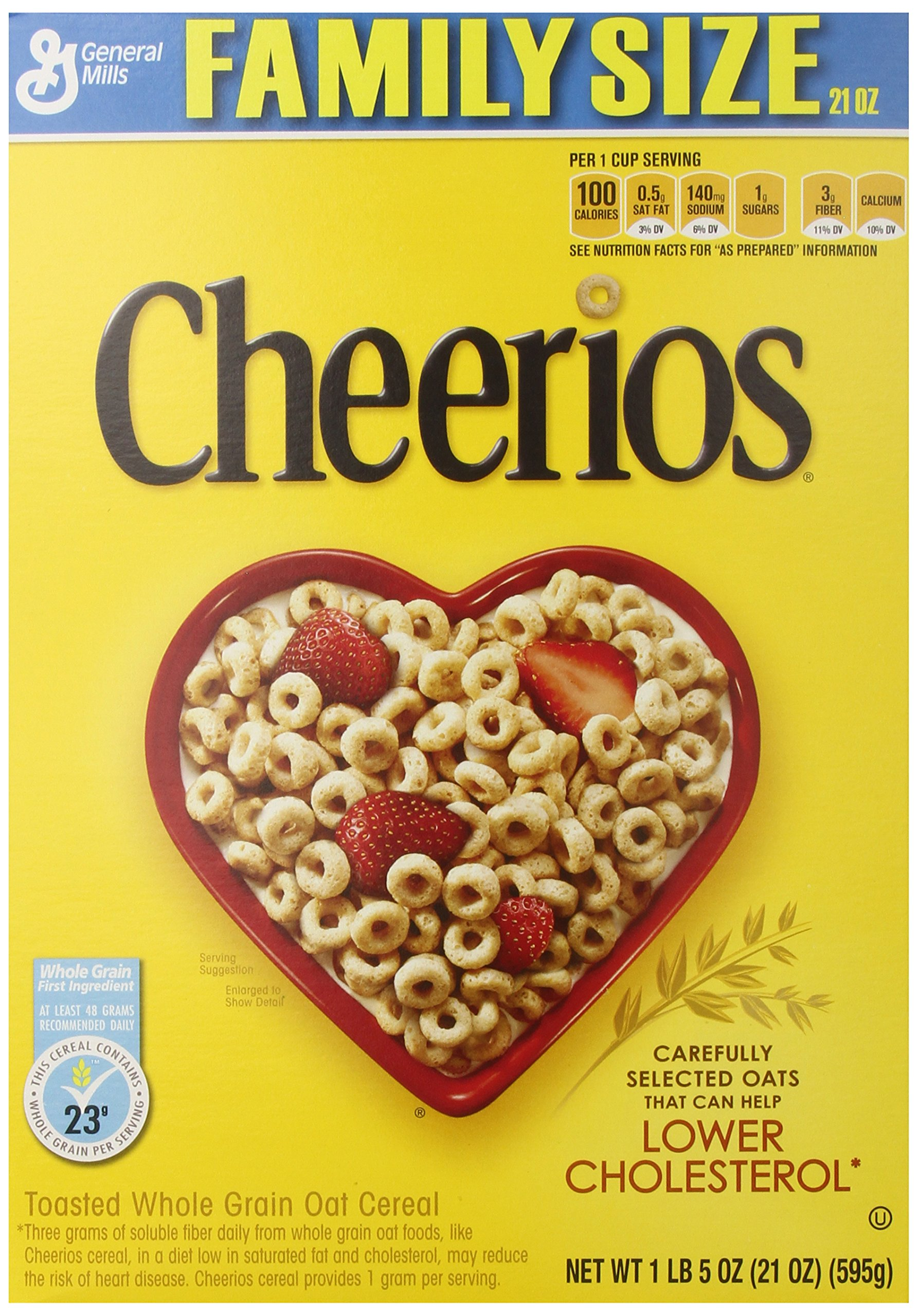 Amazon.com: Honey Nut Cheerios Cereal, 21.6 Ounce (Pack Of 2):