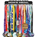 Medal Holder Display Hanger Rack Frame - Sturdy Wall Mount Over 60 Medals Easy to Install-Dream.Believe.Achieve.mom's…