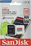 Sandisk Ultra 32GB Micro SDHC UHS-I Card with Adapter - 98MB/s U1 A1 - SDSQUAR-032G-GN6MA (2 Pack)