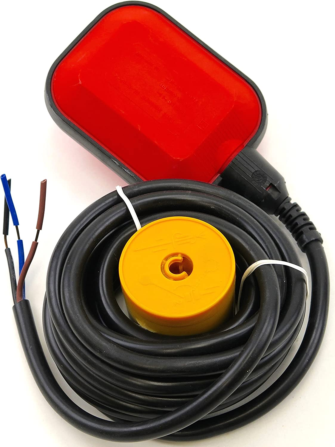 FL-S-BK-4 Square Float Switch w// 12 ft Cable 15 Amp 14 Gauge Wire 250V 1 NO,//1NC