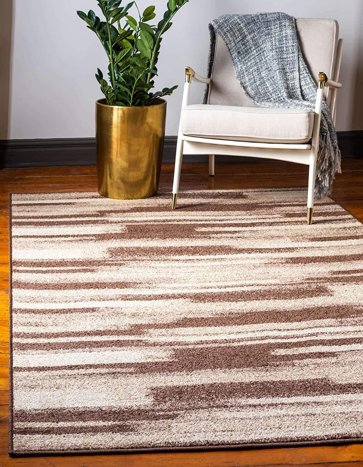 Unique Loom Autumn Collection Gradient Casual Warm Toned Brown Area Rug 2 0 X 3 0 Furniture Decor