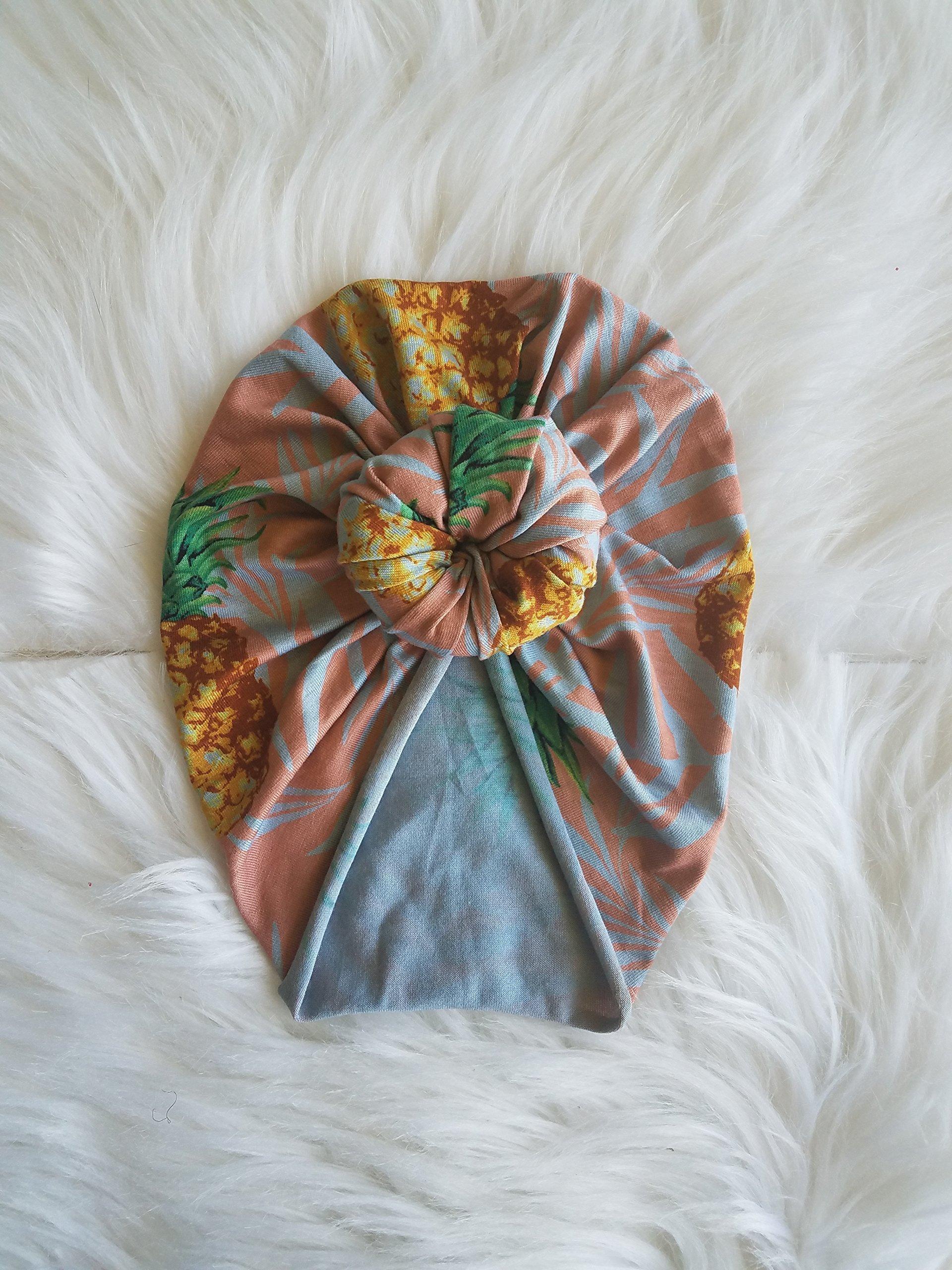 Pineapple topknot turban
