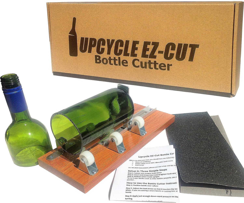 Bottle Cutter Kit to Make Glasses from Wine/Beer Bottles + Edge Sanding Paper Upcycle EZ-Cut Bottle Cutter