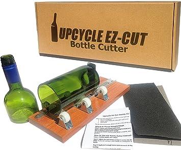 Cortador de Botellas Kit Para Hacer vasos de vino/cerveza Botellas + Papel de lija de borde: Amazon.es: Juguetes y juegos