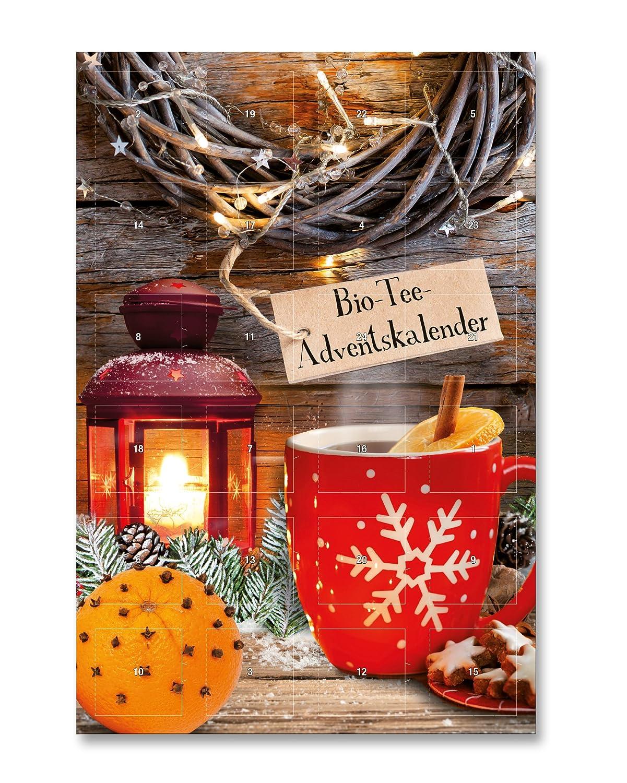 Weihnachtskalender Tee.Bio Tee Adventskalender Mit 24 Pyramidenbeuteln In Xxl Format