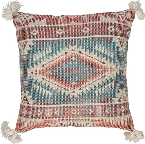 Amazon Brand Stone Beam Modern Patterned Throw Pillow – 18 x 18 Inch, Multicolored