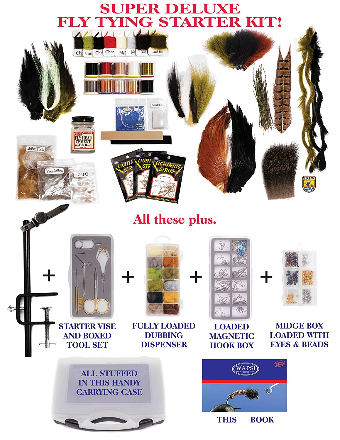 The best fly tying starter kit for a more convenient for Fly fishing starter kit