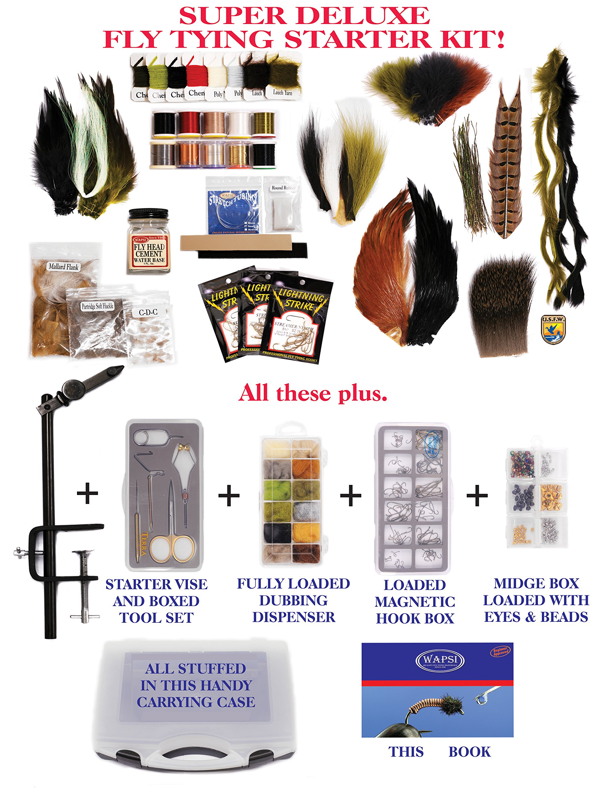 Wapsi Super Deluxe Fly Tying Starter Kit by Wapsi