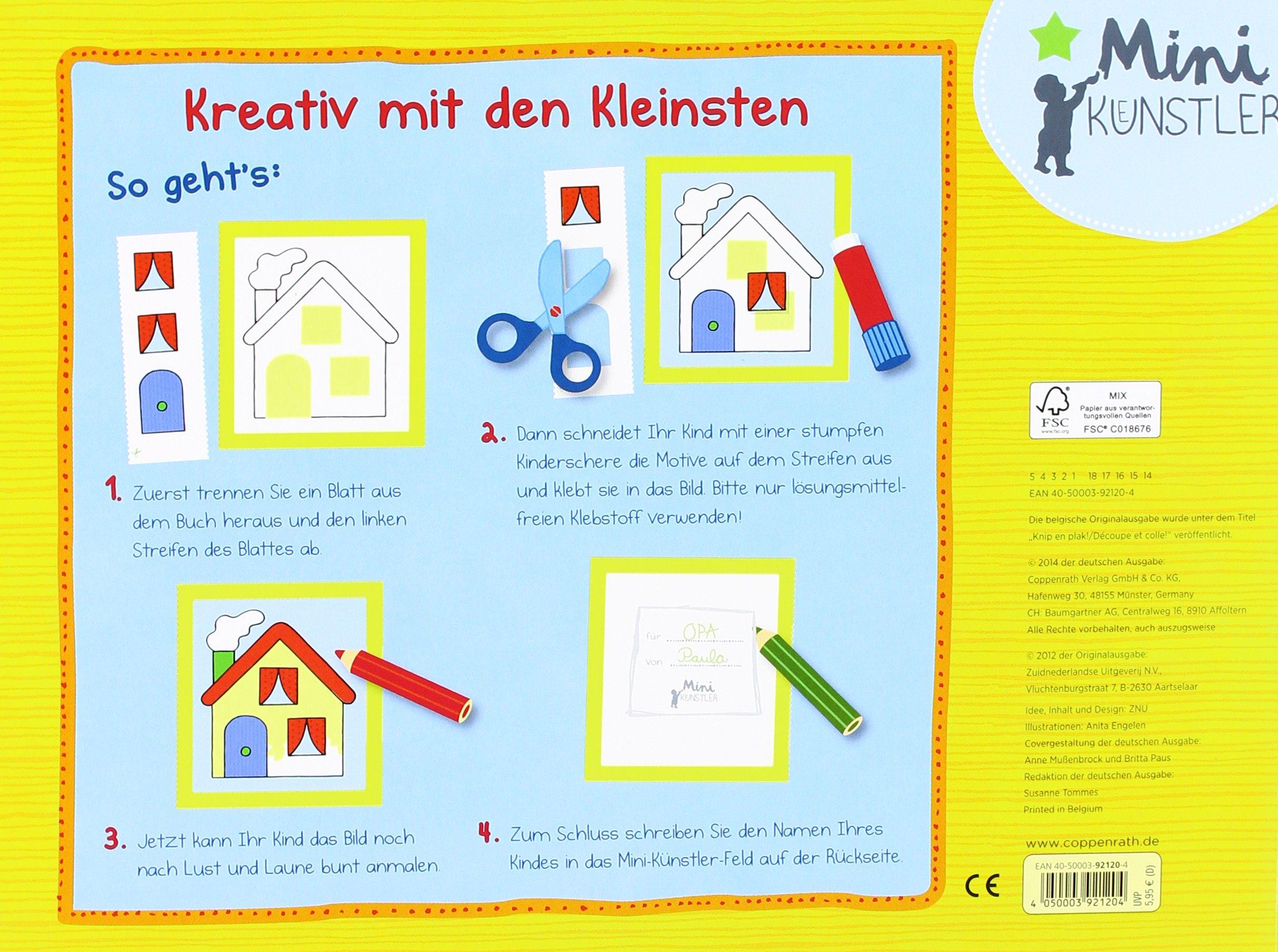 Mein Erstes Bastelbuch Schneiden Kleben Malen Mini Künstler