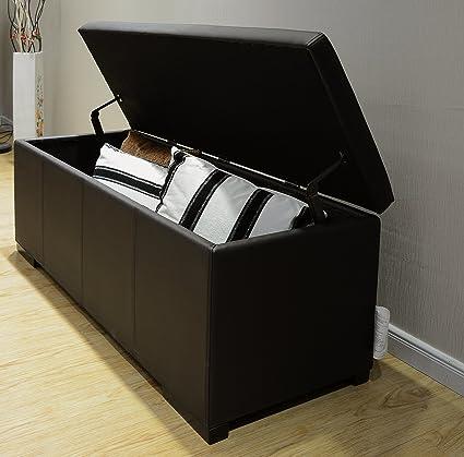 Outstanding Greatime Os001Bk Storage Ottoman X Large Black Faux Leather Multiple Color Options Lamtechconsult Wood Chair Design Ideas Lamtechconsultcom