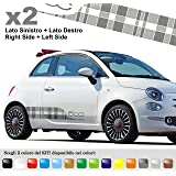 kit fiat 500 damiers 2 stickers autocollants decals deco abarth option origine. Black Bedroom Furniture Sets. Home Design Ideas