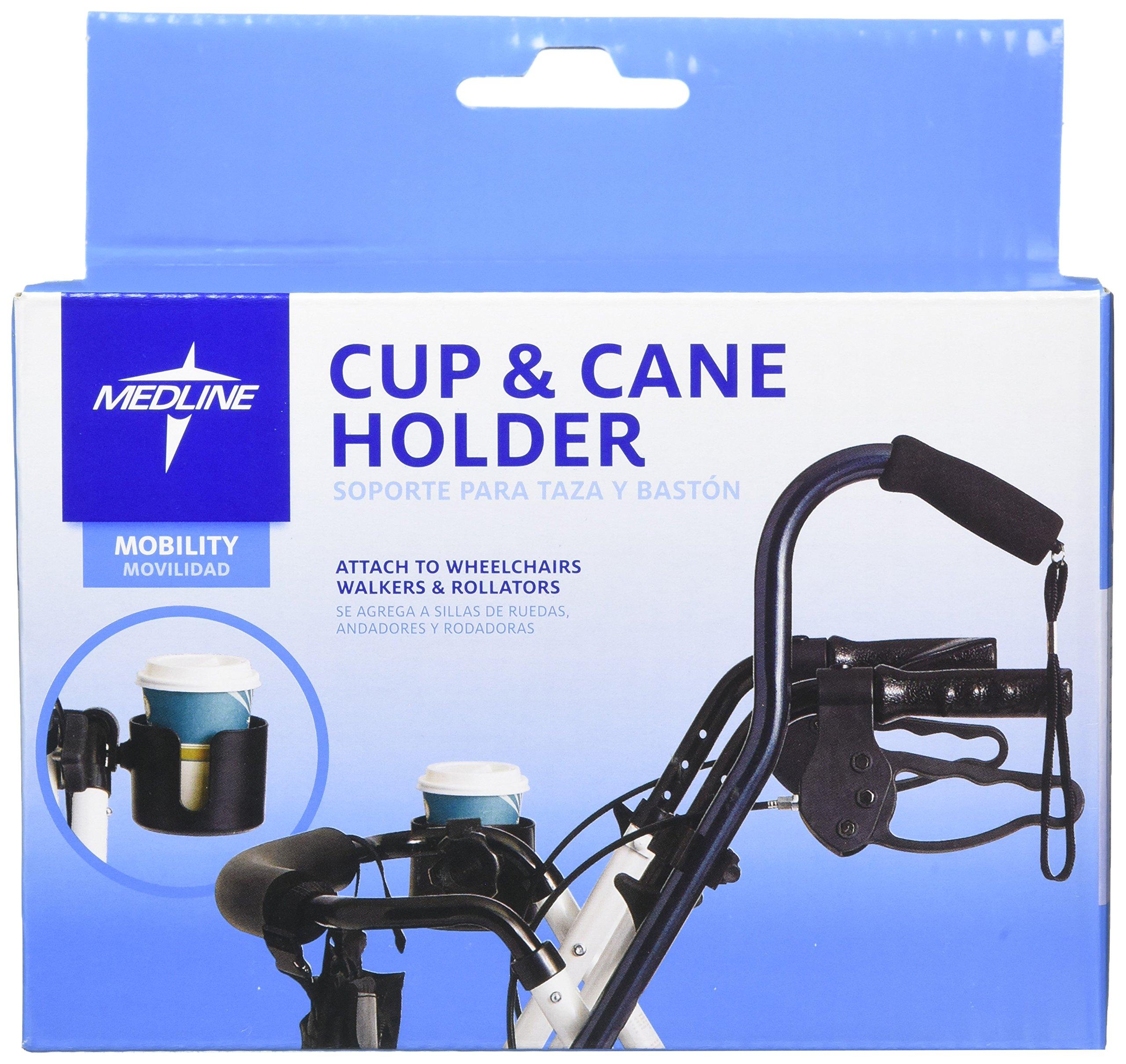 Medline MDSCUPCANEHW Walker Cup and Cane Holder (Pack of 6)