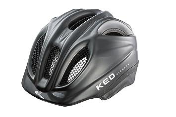 KED Meggy - Casco de ciclismo infantil, color negro, talla M (52-