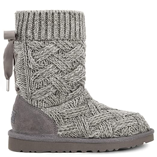 14e4c2e231b Amazon.com | Ugg Kid's Lottie Knit Boot | Boots