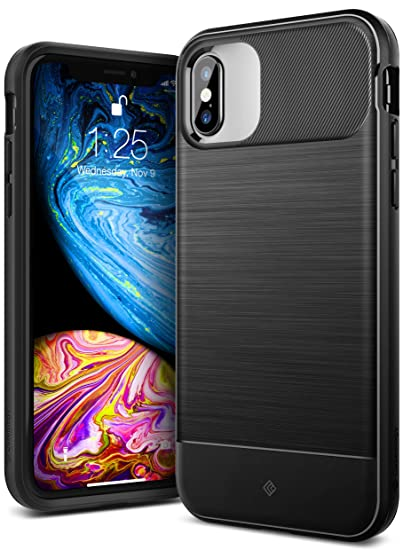 big sale e2612 a81c7 Caseology Vault for iPhone XS Case (2018) / iPhone X Case (2017) - Rugged  Matte Finish - Black