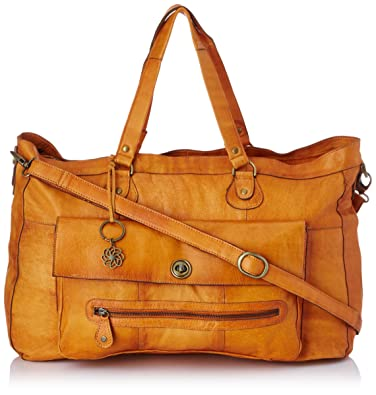TOTALLY ROYAL LEATHER TRAVEL BAG NOOS 17055349 Damen Umhängetaschen, 1 Groesse (one size), Braun (Cognac) Pieces