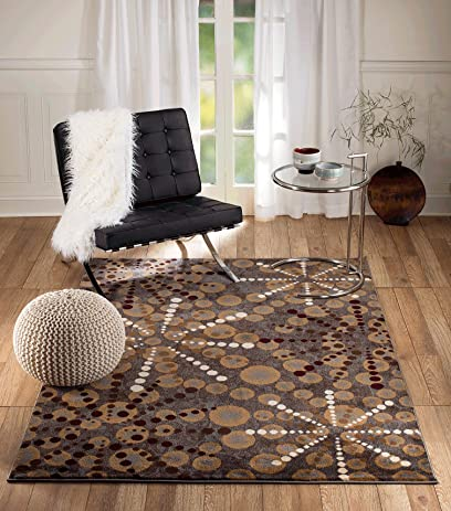 Summit S77 Venice Grey Vintage Retro Style Area Rug Modern Abstract Rug  Many Sizes Available (
