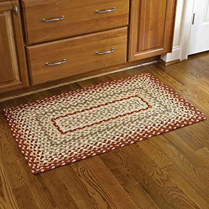 Amazoncom Park Designs Mill Village Braided Rectangle Rug 27x45