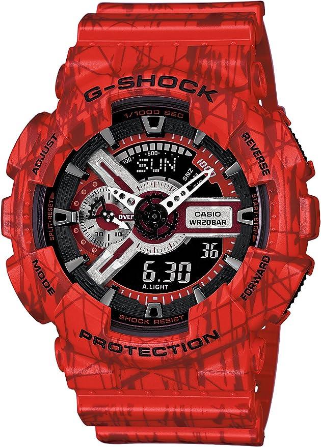 [カシオ] 腕時計 ジーショック Slash Pattern Series GA-110SL-4AJF レッド