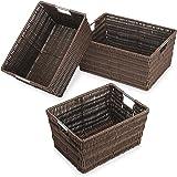 Whitmor Rattique Storage Baskets - Java (3 Piece Set)