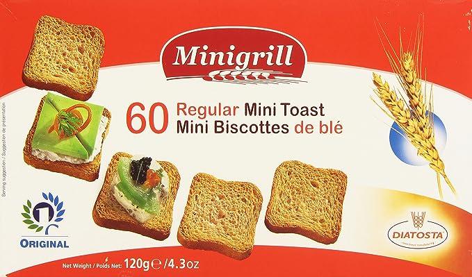 Minigrill - Mini Biscottes con harina de trigo - 120 g: Amazon.es: Alimentación y bebidas