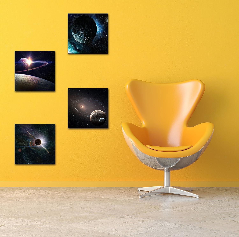 Amazon.com: Natural art -Outer Space Planet Painting Canvas Prints ...
