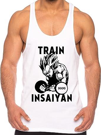 THE LION Vegeta Train Insaiyan de los Hombres Camisa del músculo One Goku Dragon Master Son Ball Vegeta Turtle Roshi Piece Gym: Amazon.es: Ropa y accesorios