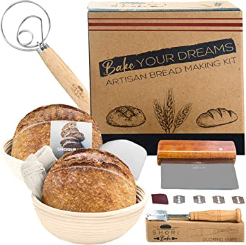 Bread Baking Stencils Proofing Basket Dough Whisk Beginners Tool Kits