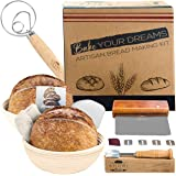 Shori Bake Banneton Bread Proofing Basket Set of 2 Round 9 Inch with Linen Liner + Bread Baking Kit Gift pack - Bread…