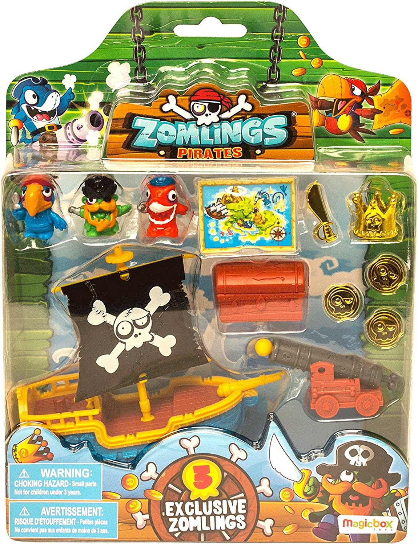 ZOMLINGS- Blíster Pirata Barco, Color Azul (Magic Box INT Toys P00993): Amazon.es: Juguetes y juegos